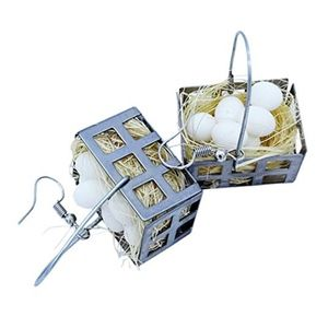 Egg Basket Earrings